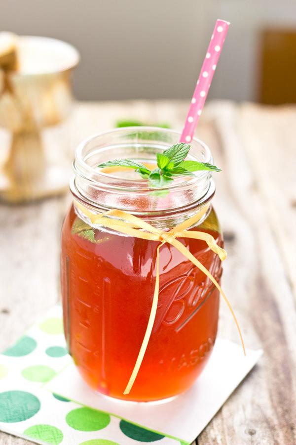 Mint Blueberry Pomegranate Water Kefir