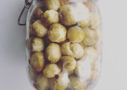 Lacto-Fermented Smoked Brussel Sprouts