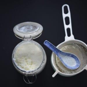 serving milk kefir