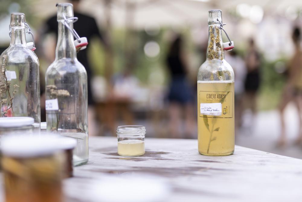 water kefir drinks on table
