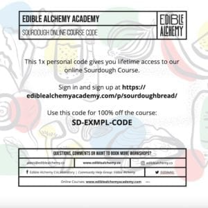sourdough gift certificate