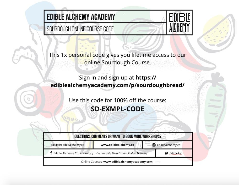 sourdough gift certificate